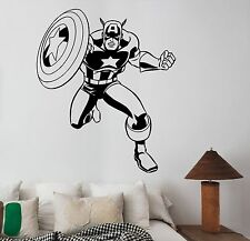 Captain America Wall Decal Vinyl Sticker Comics Superhero Art Playroom Decor cp4