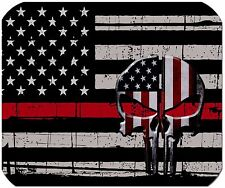 Thin Red Line Punisher Mouse Pad - Firefighter Mouse Pad