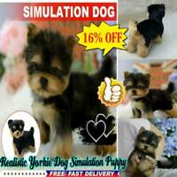 Best Realistic Yorkie Dog Simulation Puppy Lifelike Stuffed Companion Toy Pet
