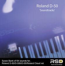 'Soundtracks' Roland D-50, D-05, Roland Cloud vst, soundbank patches for sale