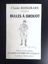 Catalogue de vente BD 1994 Bulles à drouot Boisgirad BON ETAT