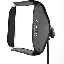 "Godox S-Type Speedlite Bracket Bowens Mount Holder W/24"" 60x60cm Folding Softbox"