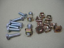 Cage Nuts (Captive Nuts) and Bolts, M6, Pack of 100
