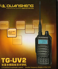 NEW Quansheng TG-UV2 Dual Band Radio Transceiver VHFUHF 200 Channels