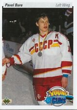 1990-91-U.D. YOUNG GUNS ROOKIE-  PAVEL BURE  ROOKIE CARD  VANCOUVER CANUCKS  AA