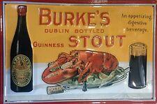 Burke's Stout (Guinness) embossed steel sign 300mm x 200mm (hi)