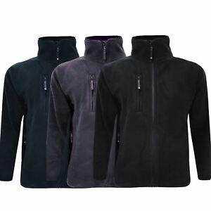 Mens Fleece Jacket Full Zip Pocket Work Anti Pill Polar Outdoor Warm Coat S-5XL