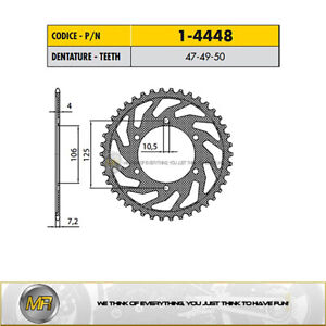 FOR TRIUMPH TIGER 800 FROM 2010 TO 2014 STEEL REAR SPROCKET 525 - 50 TEETH