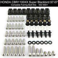 Fairing Bolts Kit Body Screws Stainless Steel Fit For Honda CBR1100XX 1997-2007