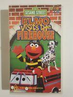 Elmo Visits the Firehouse VHS Sesame Street ABC for Kids Childrens Video 2004