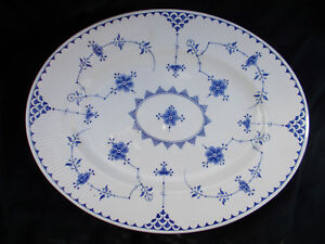 Furnivals DENMARK. Oval Meat Dish. Measures 14 1/4 x 11 1/2 inches.