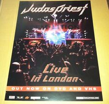 Judas Priest 2002 Retail Promo Poster for Live in London Dvd Never Displayed