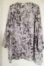 Violet + Claire 2X Shirt Top Blouse Tunic  Womens Plus 3/4 Sleeve
