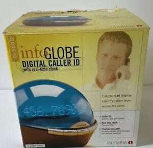 NEW Olympia Info-Globe Digital Caller ID w/ Real-Time Clock OL3000 *Open Box*