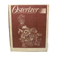 🔴 Vintage 1984 Osterizer Blender Model 855-12 Almond & Chrome ~ SEALED NOS