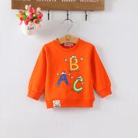 IENENS Toddler Kids Boys Girls Fashion Tops Autumn Infant Baby Cartoon Shirt