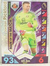 Match Attax 2016/17 Premier League -  MA29 Jordan Pickford - Man of the Match