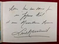 Line Renaud Rare Autographe Vœux