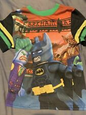 BOYS LEGO BATMAN SHORT SLEEVE PAJAMA TOP 100% COTTON