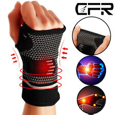 Copper Wrist Support Brace Arthritis Compression Sleeve Hand Fit Carpal Tunnel