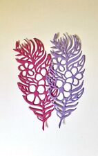 FREE POSTAGE OFFER -  5 X Feather Scrabooking / Cardmaking Die Cuts