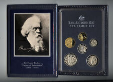 "1996 Royal Australian Mint Proof Set: ""Sir Henry Parkes."""