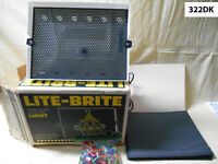 Vintage 1978 Hasbro Lite-Brite Toy in Original Box w/ Glow Pegs & Picture Sheets