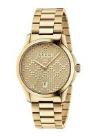 New Gucci G-Timeless Gold-Tone Stainless Steel Bracelet Unisex Watch YA126461