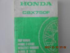 honda  cbx750f   shop manual   manuel d'atelier   cbx 750 f