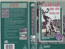 AFL VFL ON FILM 1909 -1945 MARKING TIME MARKING TIME   VIDEO VHS PAL A RARE FIND