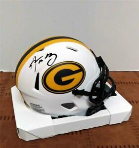 AARON RODGERS SIGNED OFFICIAL RIDDELL PACKERS LUNAR ECLIPSE MINI HELMET