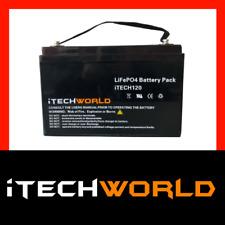 iTECH120 12V 120ah Lithium LiFePo4 Deep Cycle recharge Battery Solar 4WD Caravan