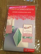 Martha Celebrations Printable Invitations/ Menu Cards