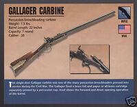 GALLAGER CARBINE RIFLE .50 Breechloading Gun Atlas Classic Firearms PHOTO CARD