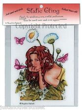 Marjolein Gulinski It's Spring Time Static Cling Decal Fairy Faery Butterfly New