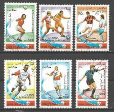 Football Afghanistan (1) série complète 6 timbres oblitérés