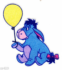 "2.5"" Disney Classic Pooh Eeyore Balloon Fabric Applique Iron On Character"