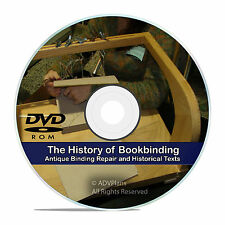 How to Bind & Repair Vintage Books, Bookbinding Leather Info 94 Books on DVD V78