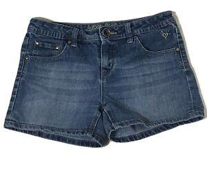 Justice Jeans Girls Size 16R Medium Wash 5 Pocket Jean Shorts Basic Read Desc.