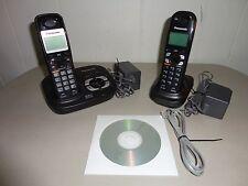 Panasonic 5.8 Ghz Cordless Phone KX-TG4321B TWO  2  Handsets and Manual
