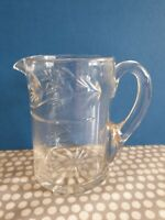 Vintage Cut Glass Jug. Weight 420gm.