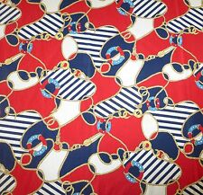 """Nautical Rope Patriotic Theme Tablecloth, Red White & Blue, Cotton, 90"""" x 90"""""""