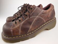DR MARTENS 12283 Melissa Brown Leather Lace Up Oxfords Shoes Sz 11