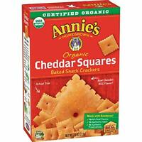 ANNIES HOMEGROWN, CRACKER SQUARE CHEDDAR, 7.5 OZ, (Pack of 12)