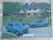 Datsun 140J & 160J SSS range brochure c1975