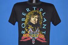 vintage 80s ROBERT PLANT NON STOP GO WORLD TOUR 1988 ROCK BAND t-shirt MEDIUM M