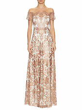 NWT Marchesa Notte Ivory Multi Off the Shoulder Illusion Wedding Gown Dress 10