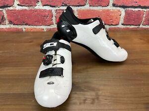 Sidi Ergo 5 Carbon Men's 42.5 (EU) 8.5 (US) Road Cycling Shoes 3-Bolt White