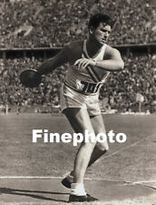 1936 Vintage OLYMPICS KEN CARPENTER Discus Track & Field Photo Art By PAUL WOLFF