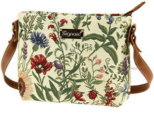 Signare Ladies Woven Tapestry Across Body Shoulder Bag In Morning Garden Design